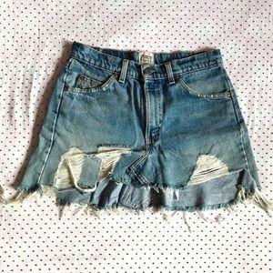 LF Furst of a Kind vintage Levi's denim mini skirt